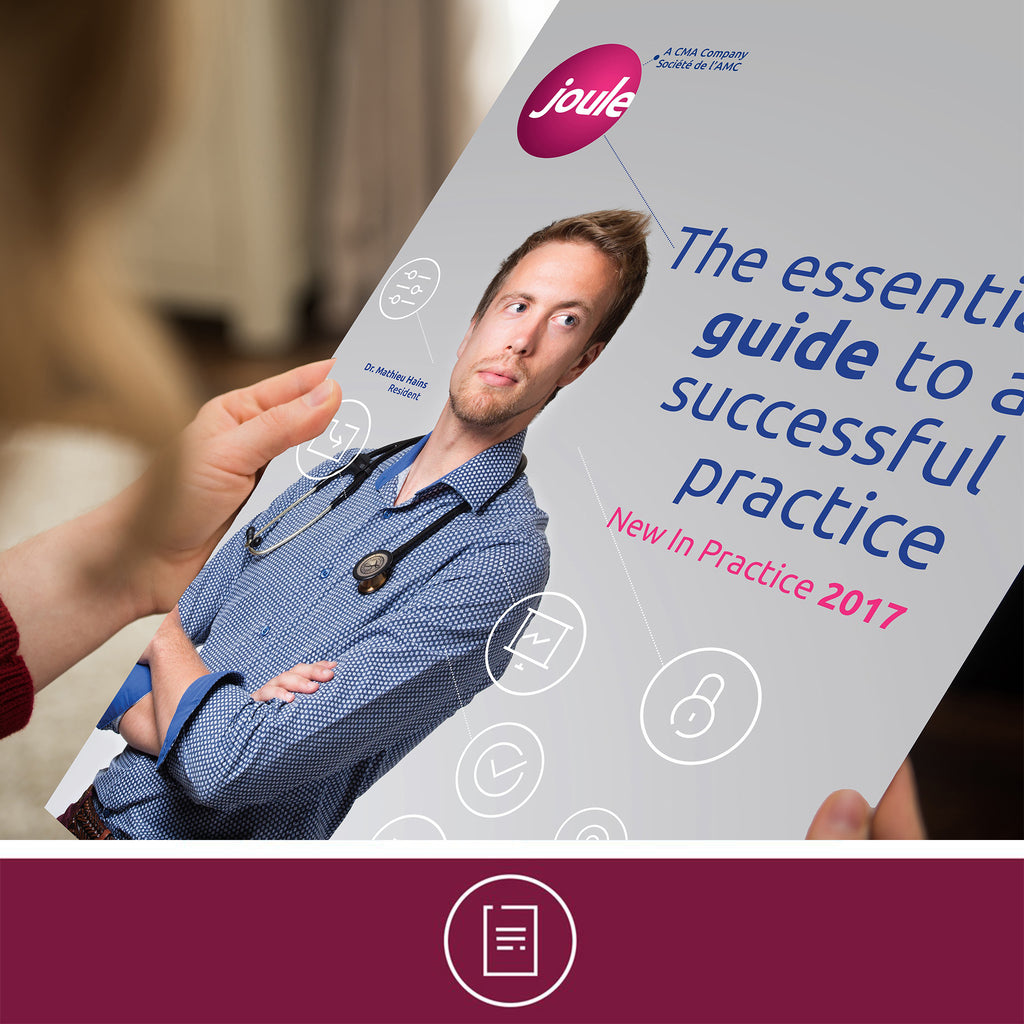 Person holding copy of New in Practice Guide