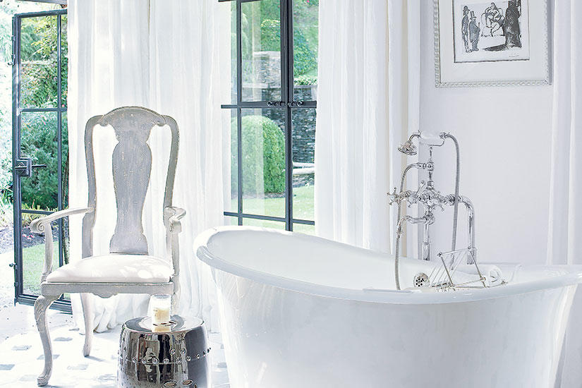 Designer tips for creating a serene bathroom