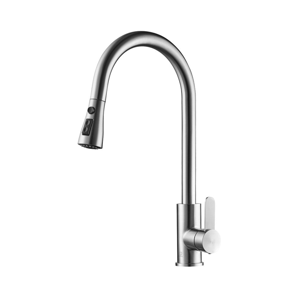 Sasha Brushed Stainless Steel Kitchen Faucet Pearl Canada