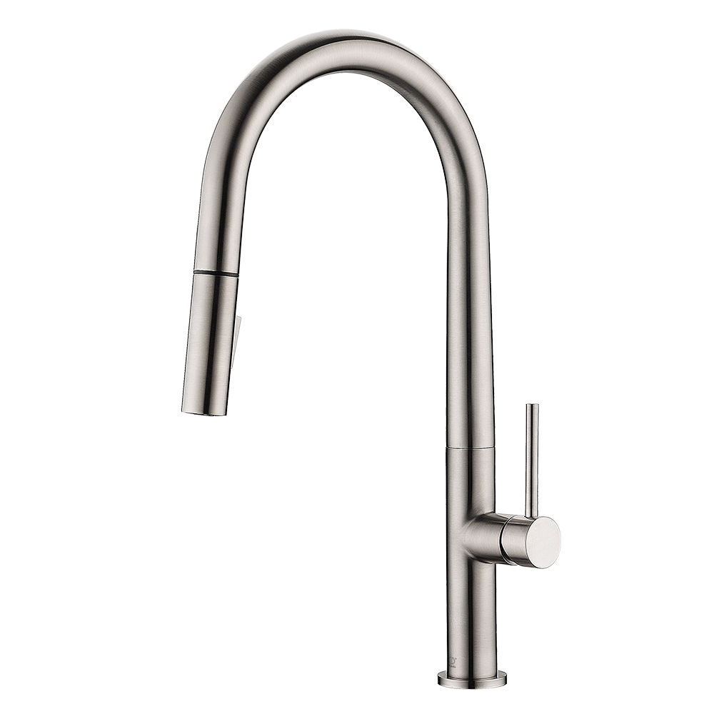 LENNOX Brushed Nickel Kitchen Faucet – Pearl Canada – Kitchen Sinks ...