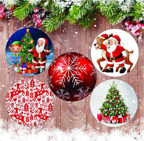 Custom Christmas Patches - 5 Pack