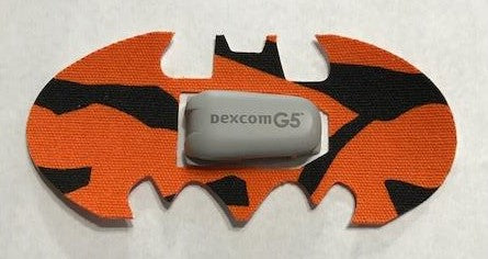 Dexcom G4/G5 Orange/Black Bat Patch