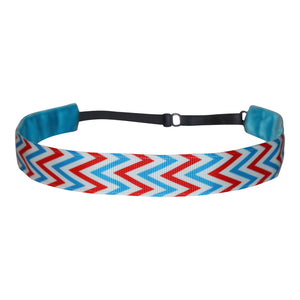 American Chevron ~  Performance Adjustable Headband Hair Band For Women