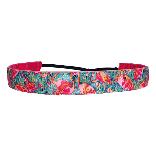 Flamingo Beach ~  Non Slip Adjustable Headband