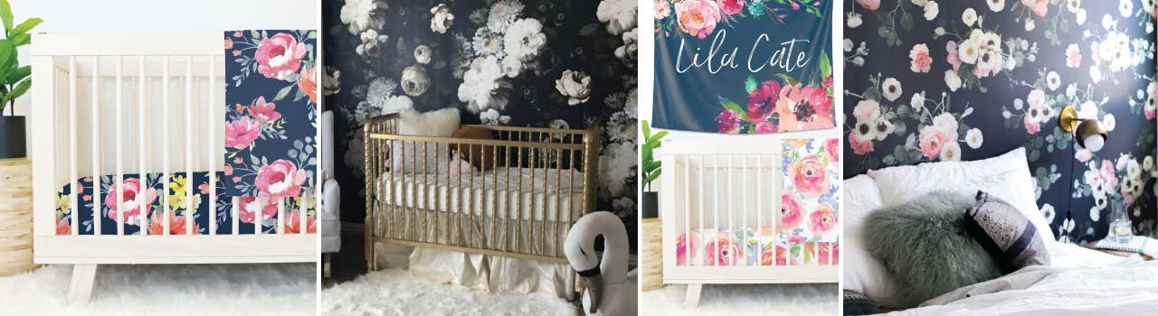 Our Top 3 Design Trends for Your Dark Floral Nursery