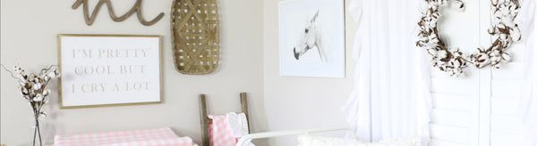 A Sweet Baby Girl Farmhouse Nursery - Every Little Girl Needs a Pony
