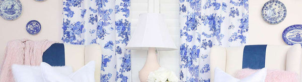 Juliet's Timeless & Elegant Blue and White Floral Nursery