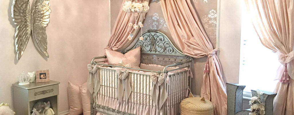 Harlow's Blush Nursery | Linen and Lace Vintage Nursery Style