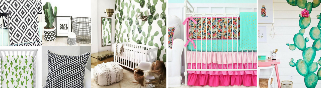 3 Ways to Design a Cactus Nursery for Gender Neutral, Girl and Boy