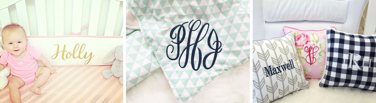 Monogrammed Crib Bedding to Add Style to Your Nursery