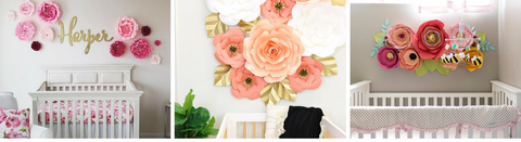 Tips for Designing Your Nursery with Paper Flowers