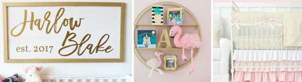 4 Must haves for a Baby Girl's Gold Nursery