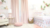 a gorgeous and elegant baby girl's nursery in dusty rose and floral