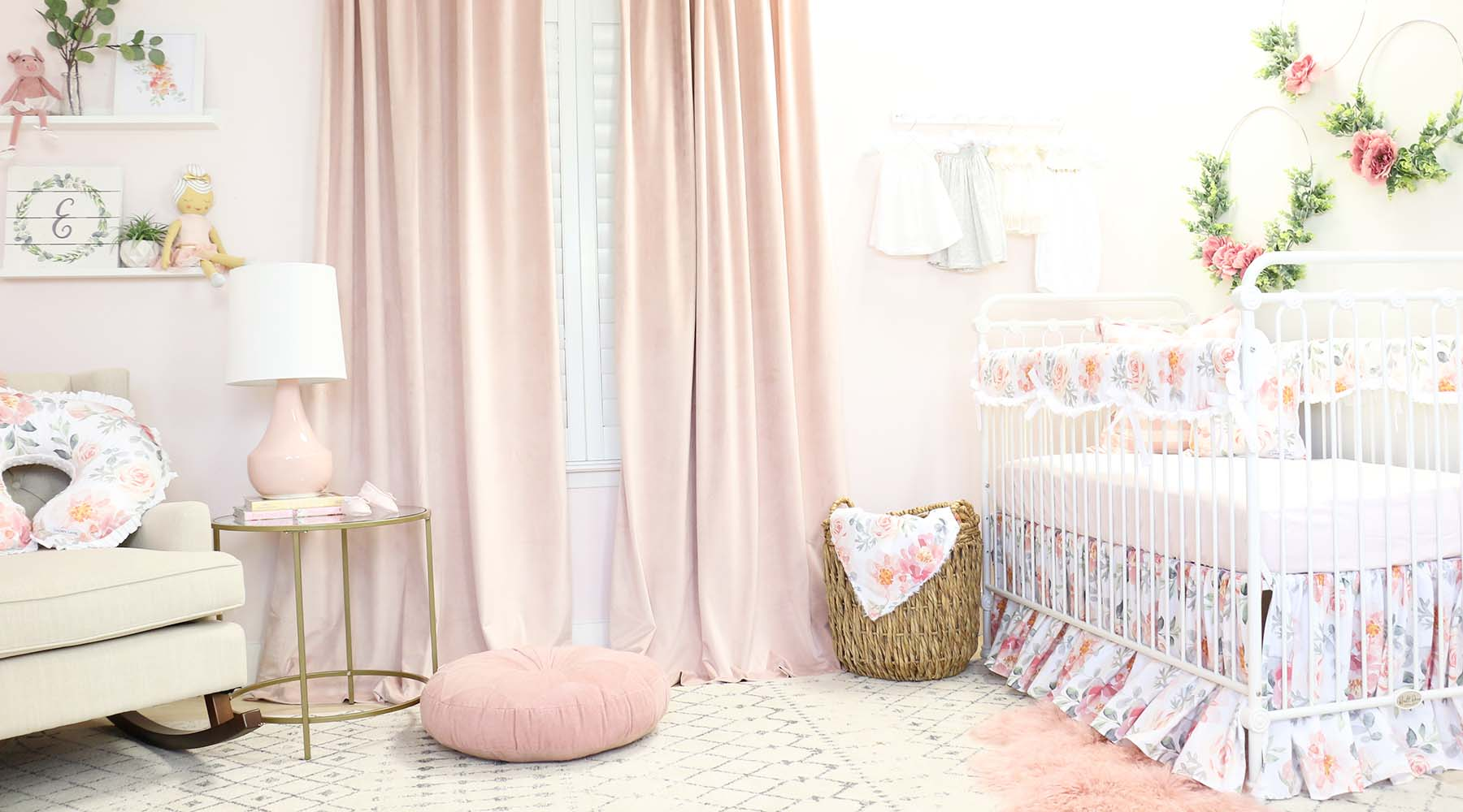 elegant baby furniture ivory gorgeous and elegant baby girls nursery in dusty rose floral caden lane baby boutique nursery bedding accessories gifts