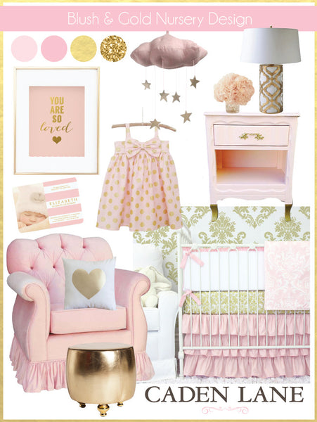 Blush And Gold Nursery Design Caden Lane
