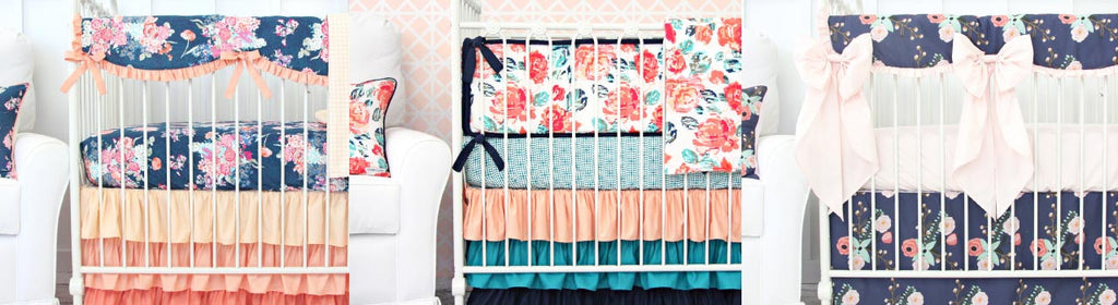 Coral and Navy Nursery Design