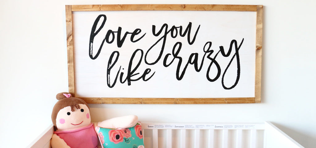 How to Make Your Own Wood Sign for the Nursery | DIY Rustic Nursery Decor