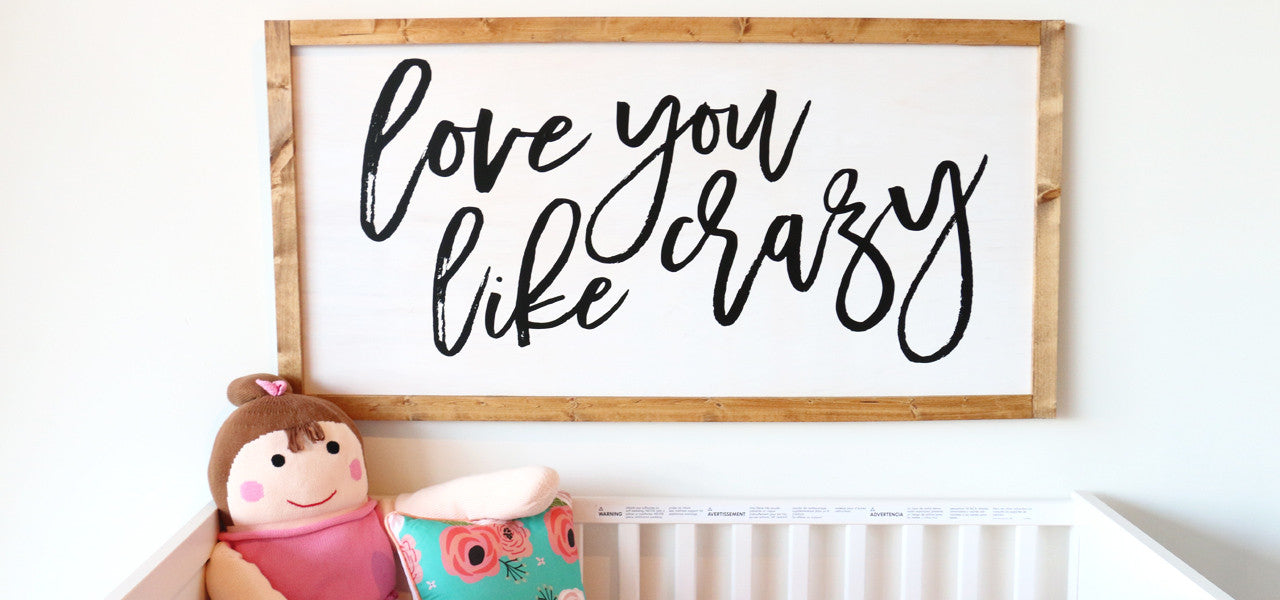How To Make Your Own Wood Sign For The Nursery Diy