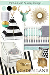 Mint and Gold Nursery Design