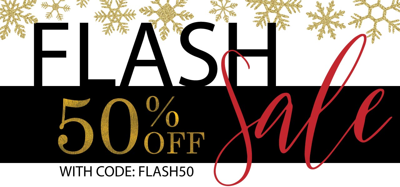 50% Off Flash Sale with code FLASH50