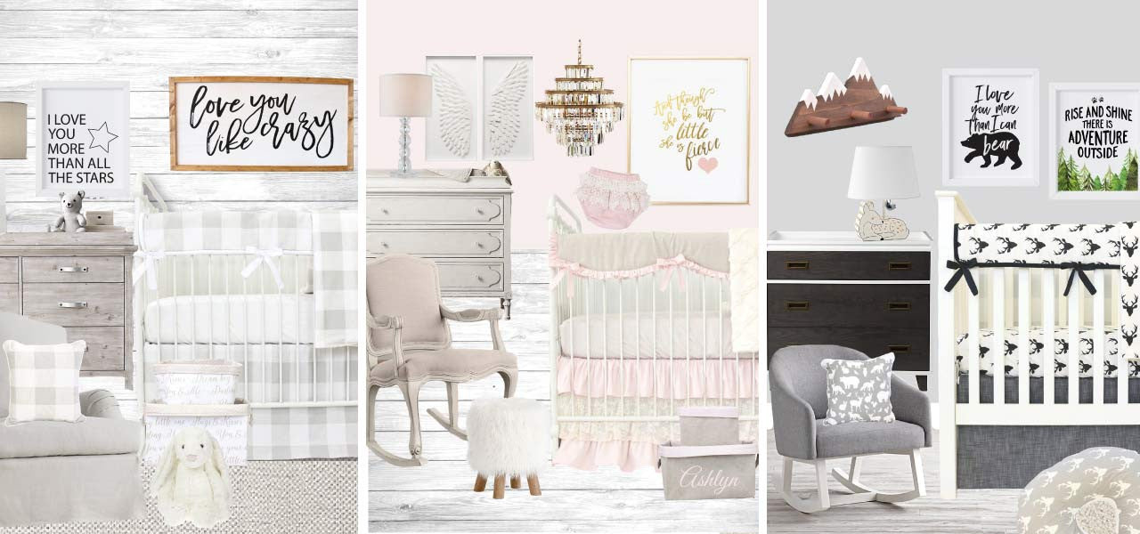 shop the latest nursery trends to get the look you want for a woodand, boho, nautical, rustic, or other trendy nursery theme