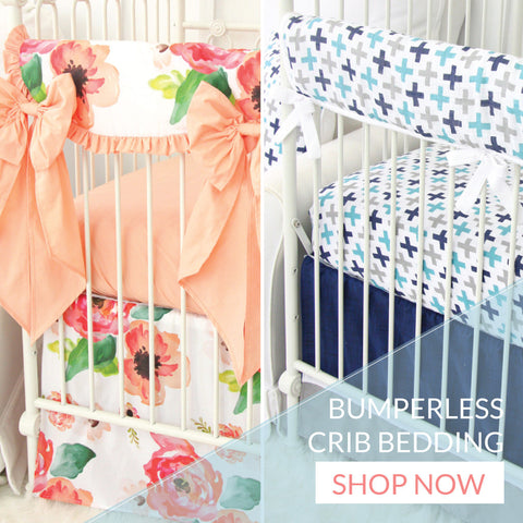 Shop Bumperless Crib Bedding for boy and girl
