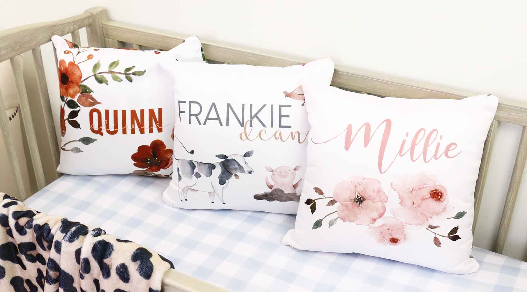 7 Inspiring Kid Room Color Options For Your Little Ones: Nursery Throw Pillows