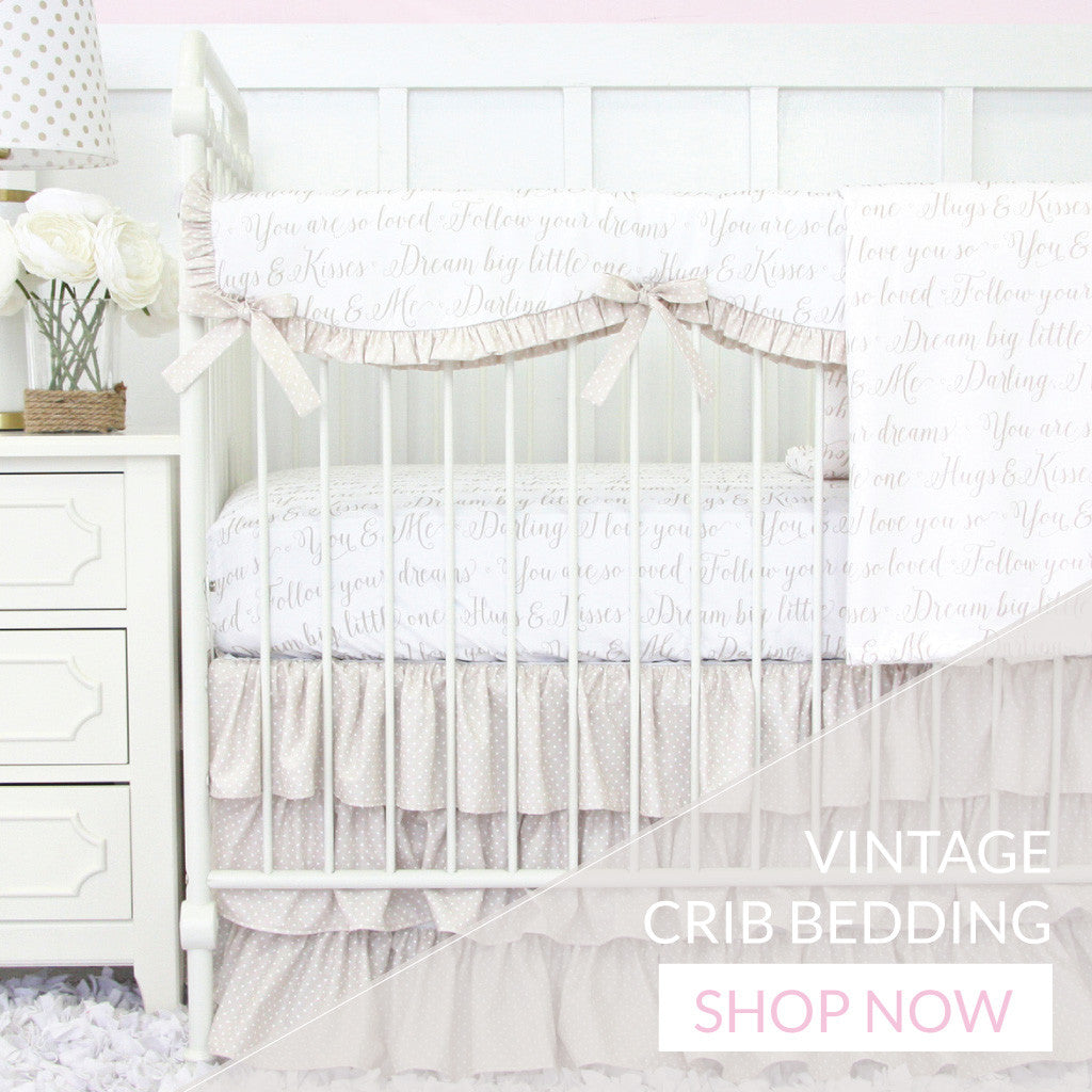 Vintage Crib Bedding Caden Lane Tagged Quot Girl Crib Sets Quot