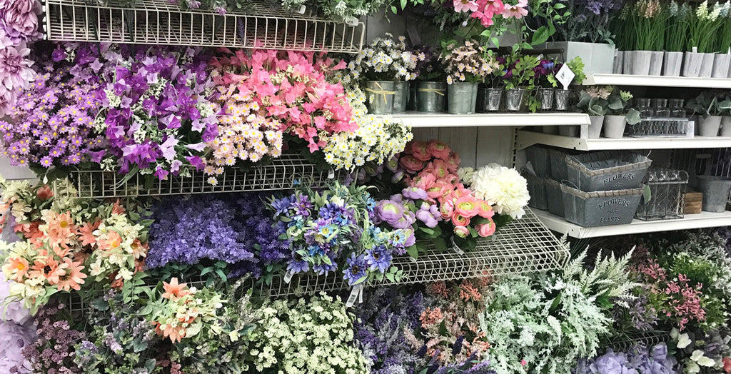 floral garland supplies at the craft store