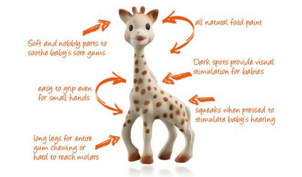Sophie the Giraffe - 6 reasons she's great for teething babies