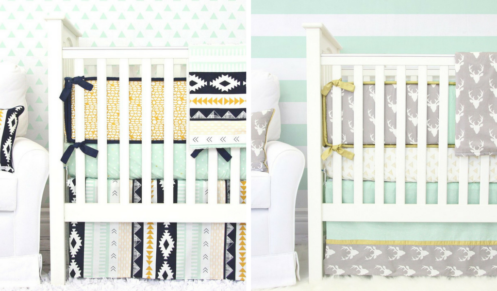 Aztec Gold and Woodlands Crib Bedding