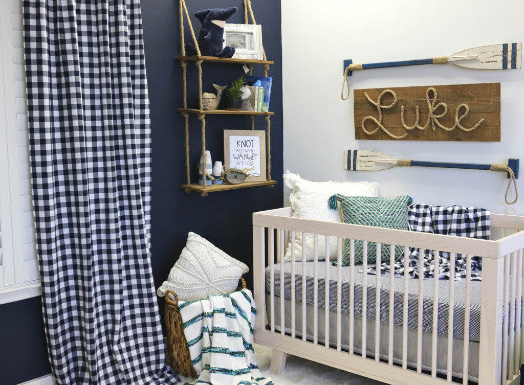 Baby Boy's Modern Beachy Nursery with Nautical Accents