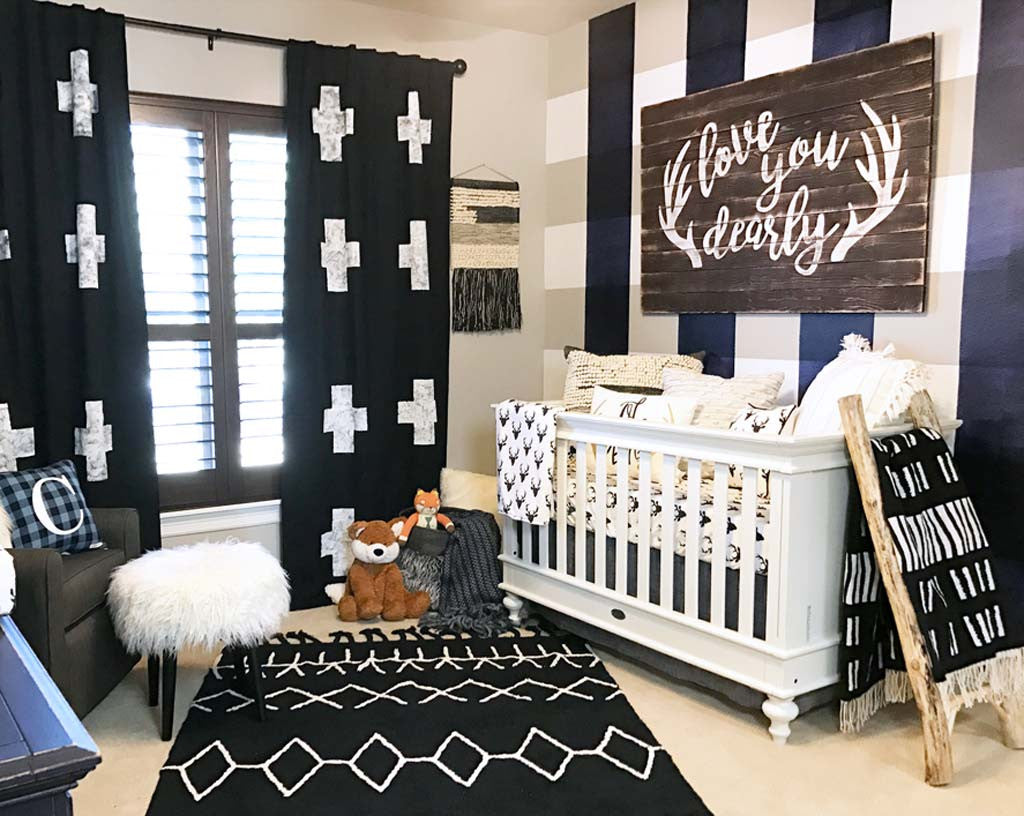 Black and White Modern Nursery
