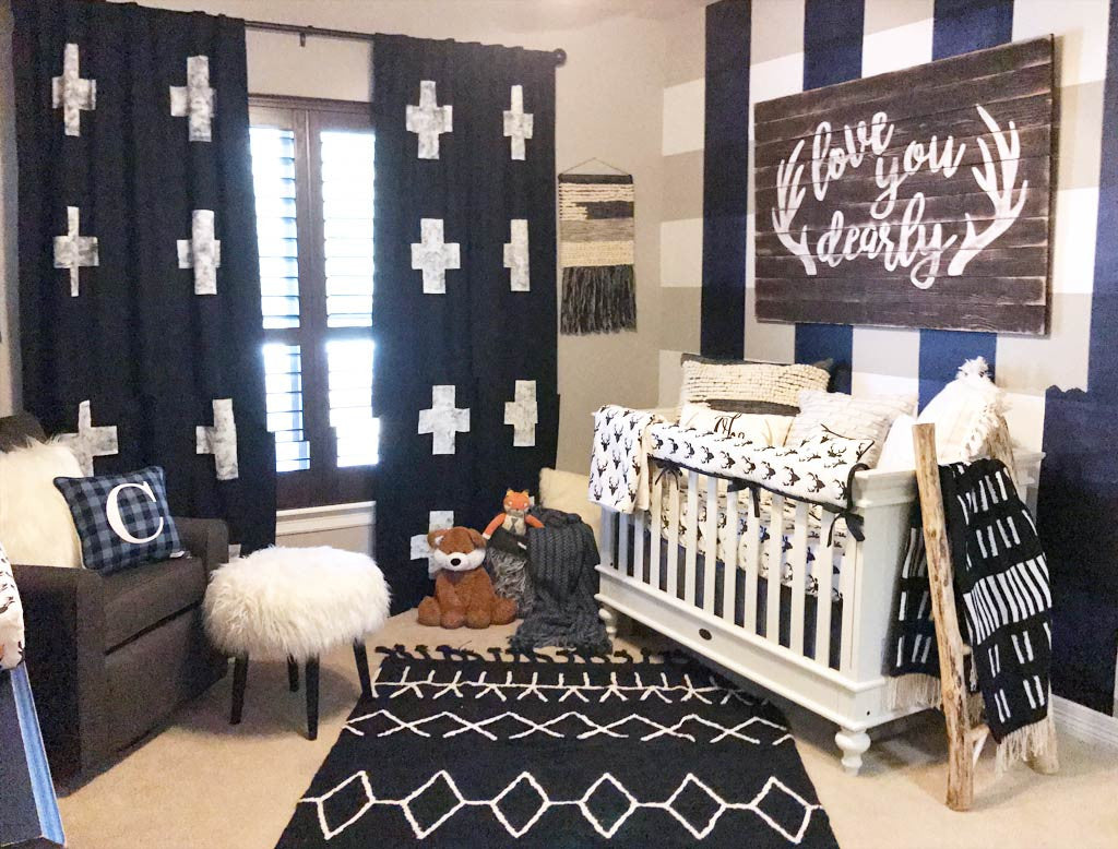 2-point perspective photo of a baby boys nursery - how to photograph your nursery