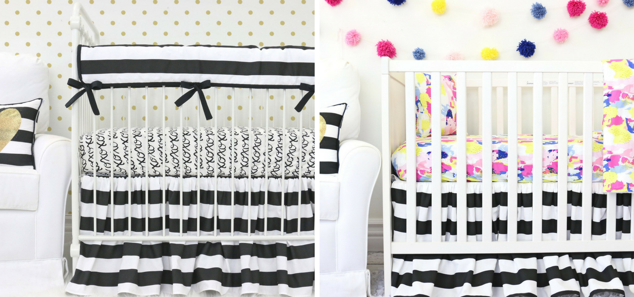 black u0026 white crib bedding for a black u0026 white nursery