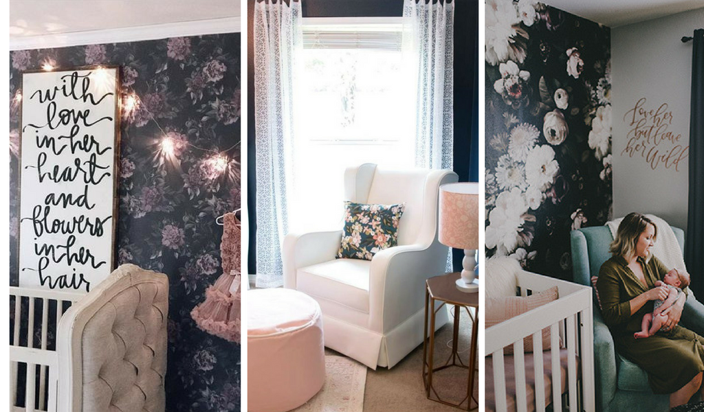 Dark Floral Nursery Design Inspiration