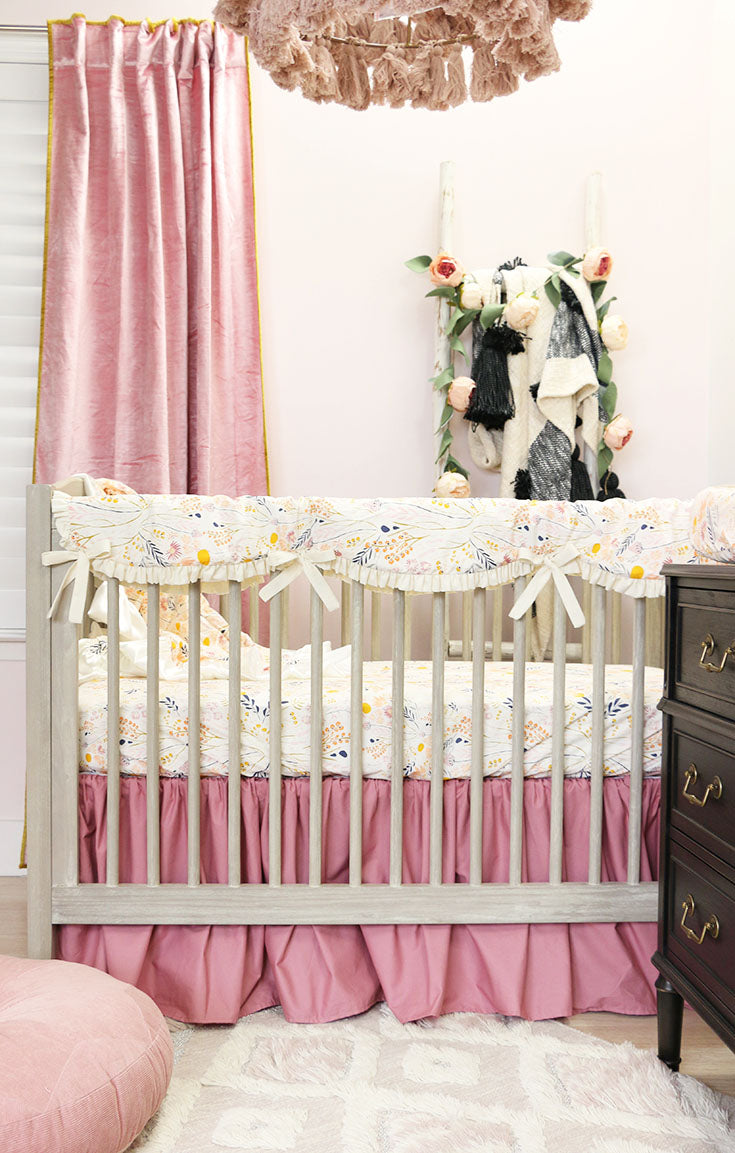 The Most Beautiful Dusty Rose Baby Girl's Boho Nursery