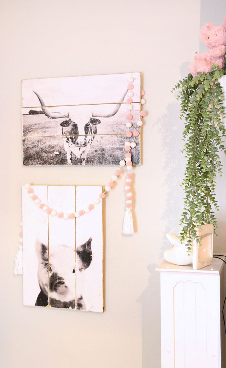 Farm Animal Wall Art in the Nursery