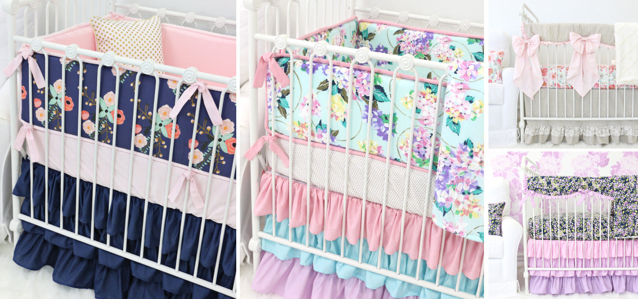 Start Your Nursery Design with the Crib Bedding - Floral Nursery Theme Baby Bedding
