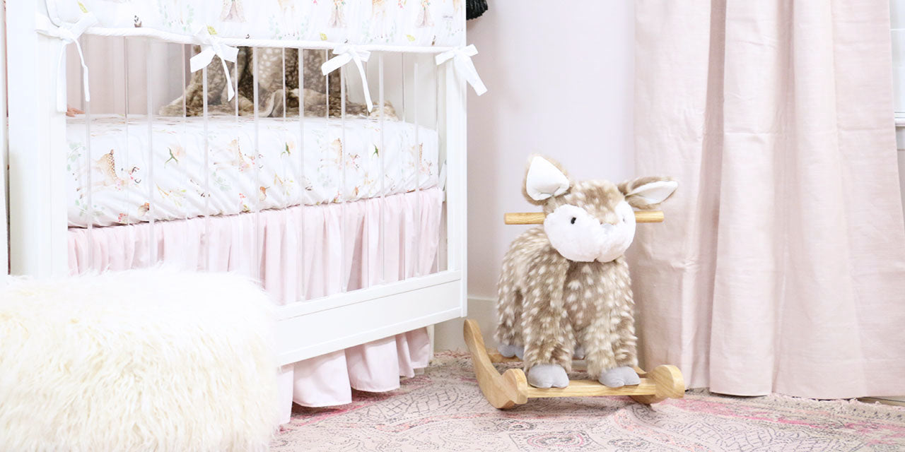 Deer Accents in a Girly Woodland Nursery