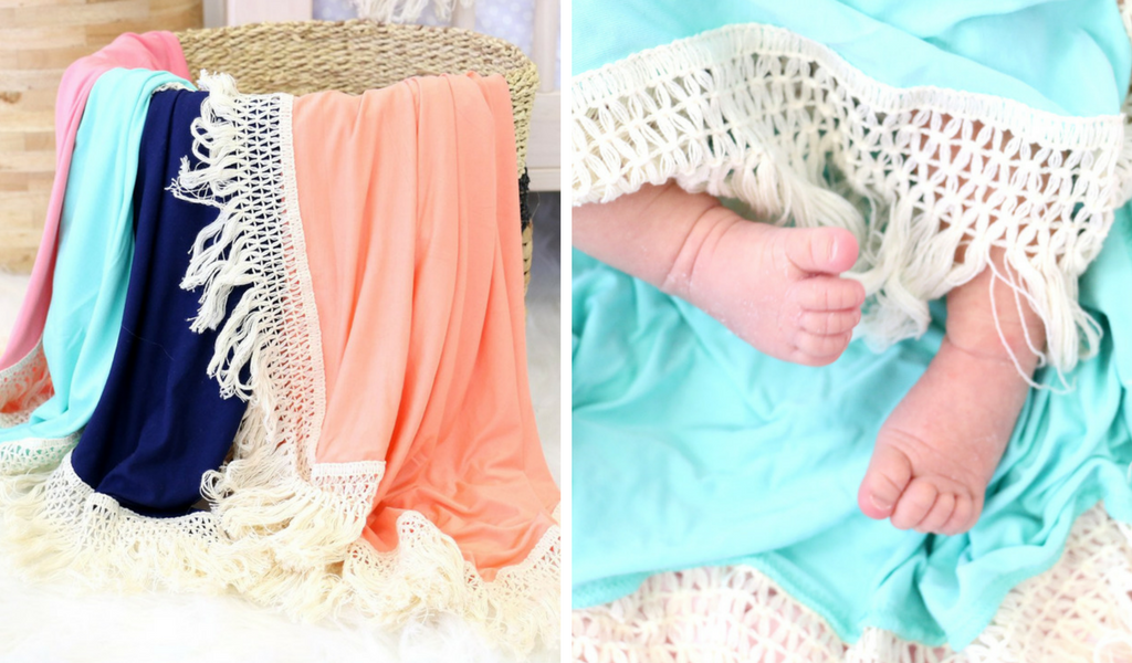 boho fringe baby receiving blankets great for newborn photos