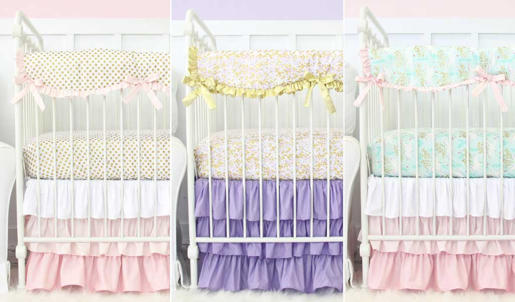 Gold Crib Bedding - one our our favorite ways to incorporate gold in the nursery