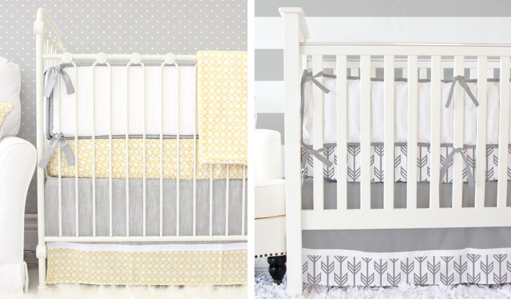 Gray Baby Bedding that's perfect for an Elephant Nursery Theme