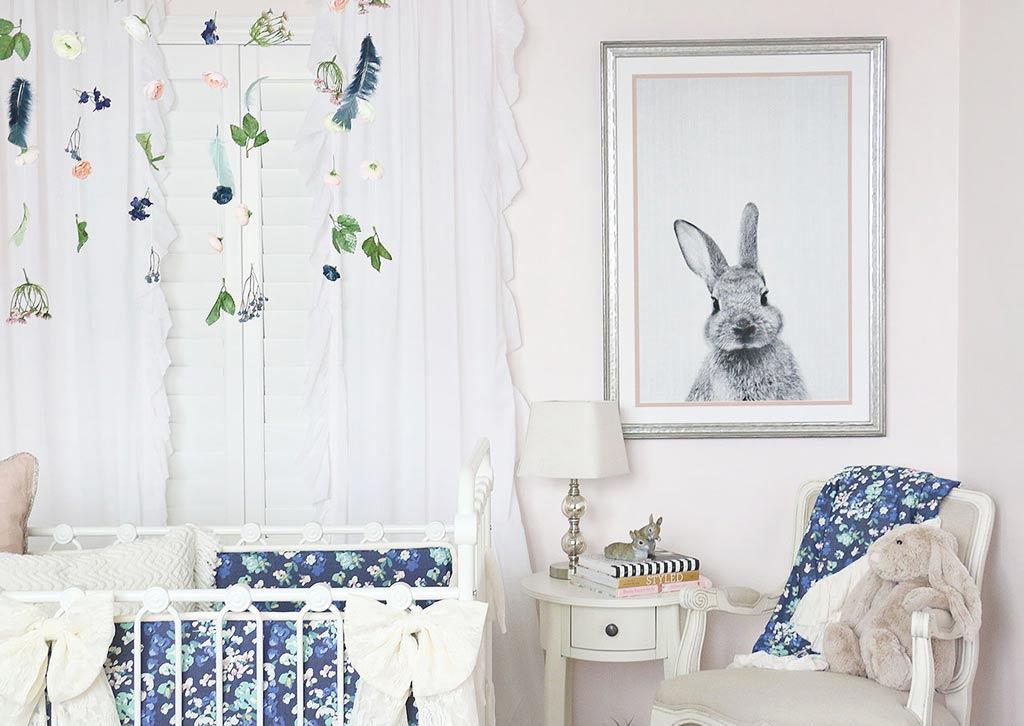 Emery S Soft Blush Blue Bunny Nursery Caden Lane
