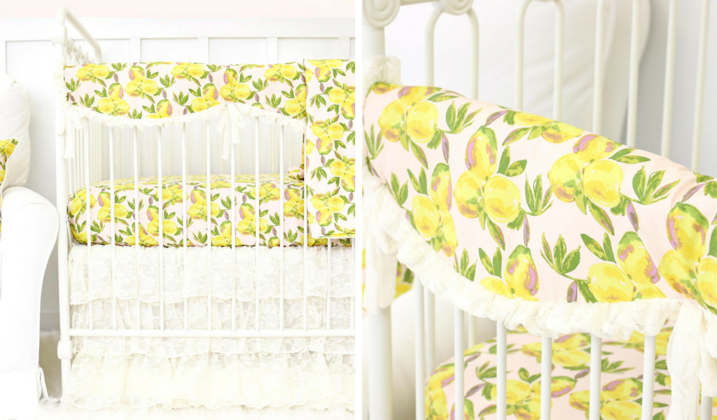 Lemons & Lace are such a sweet vintage Crib Bedding Combination