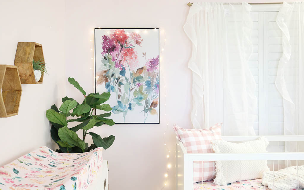 Modern Floral Artwork in the Nursery