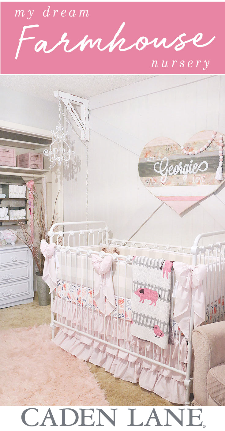 My Dream Farmhouse Nursery that's girly & pink and oh so piggy perfect!