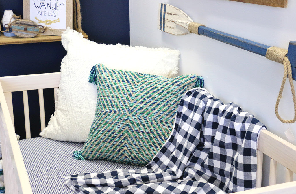 Sophisticated Nautical Nursery with Plaid Accents