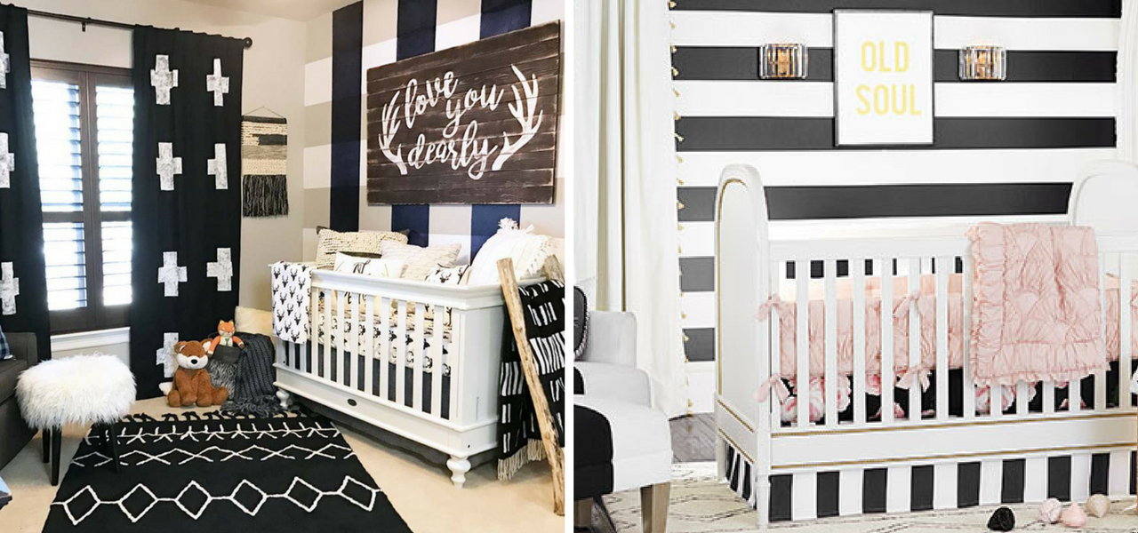 Black Amp White Nursery Inspiration Be Bold And Get