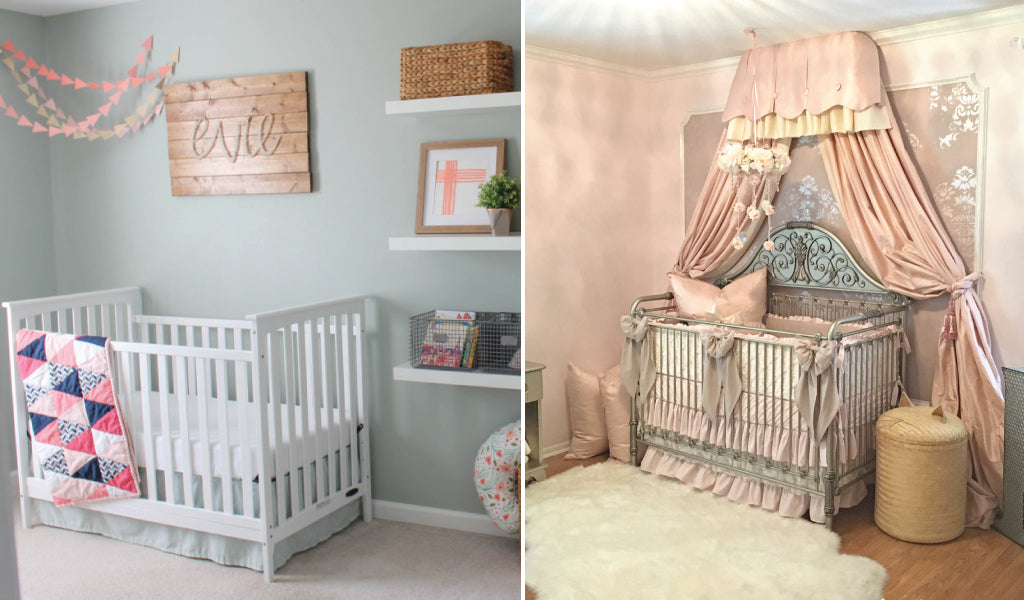 Nurseries Painted To Match The Crib Bedding